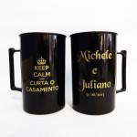 Canecas de Acrilico Michele e Juliano