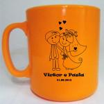 Canecas de café Victor e Paula