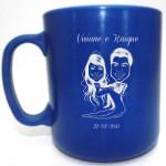 Canecas de café Viviane e Kaique
