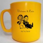 Canecas de café Viviane e Luis