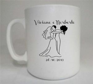 Canecas de café Viviane e Norberto