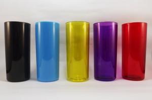 Copos long drink para personalizar preto, azul, amarelo, violeta e vermelho