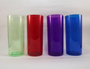 Copos long drink para personalizar verde, vermelho, violeta e azul