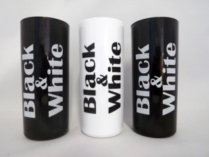 Copos long drink black e white
