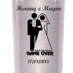 Copos long drink com glitter Herany e Magno