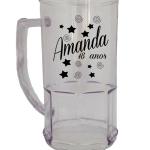 Canecas de chopp personalizadas Amanda 18 anos